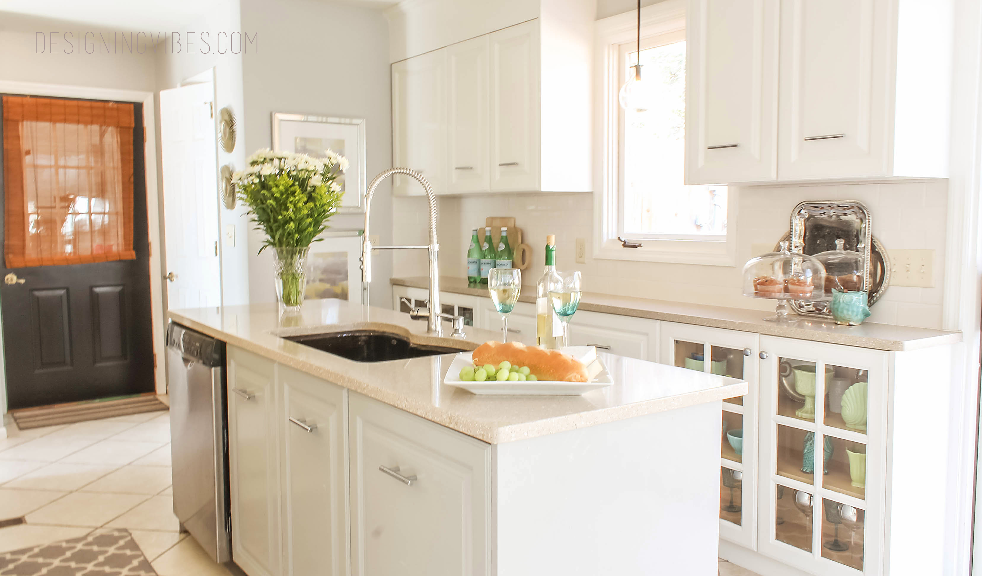Nice We Painted The Kitchen Cabinets And Trim In A Ultra White High Gloss,  Oil Based Paint. To Break Up The White, We Went With A Medium Gray Paint  For The ... Design Ideas