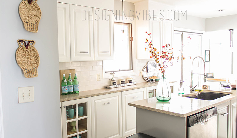 Neutral fall decor fall decor diy for What kind of paint to use on kitchen cabinets for scented candle holder