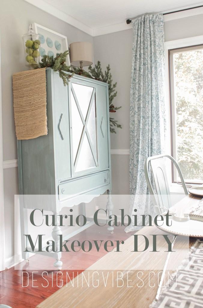 diy curio cabinet makeover