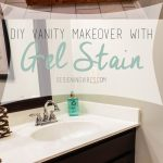 Transforming Bathroom Vanity With Gel Stain Java Gel Stain