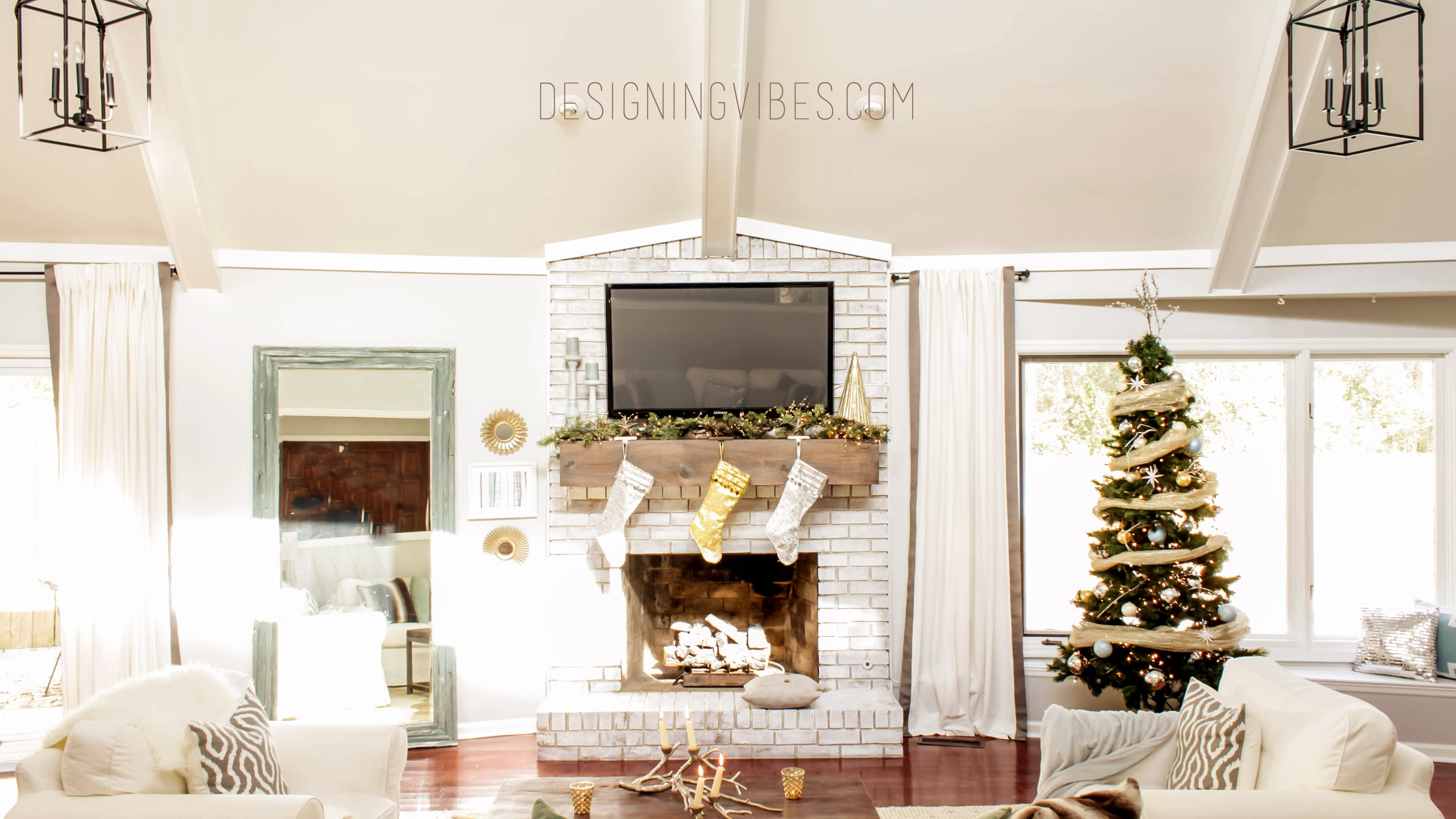 Rustic Glam Christmas Decor- Home Tour Part 2