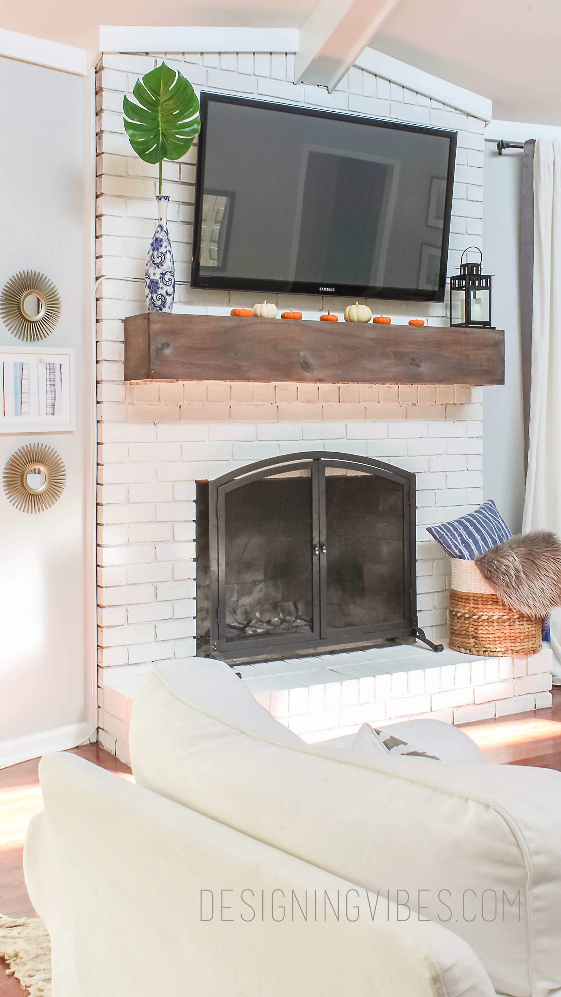 How To Makeover Your Fireplace On The Cheap And Easy