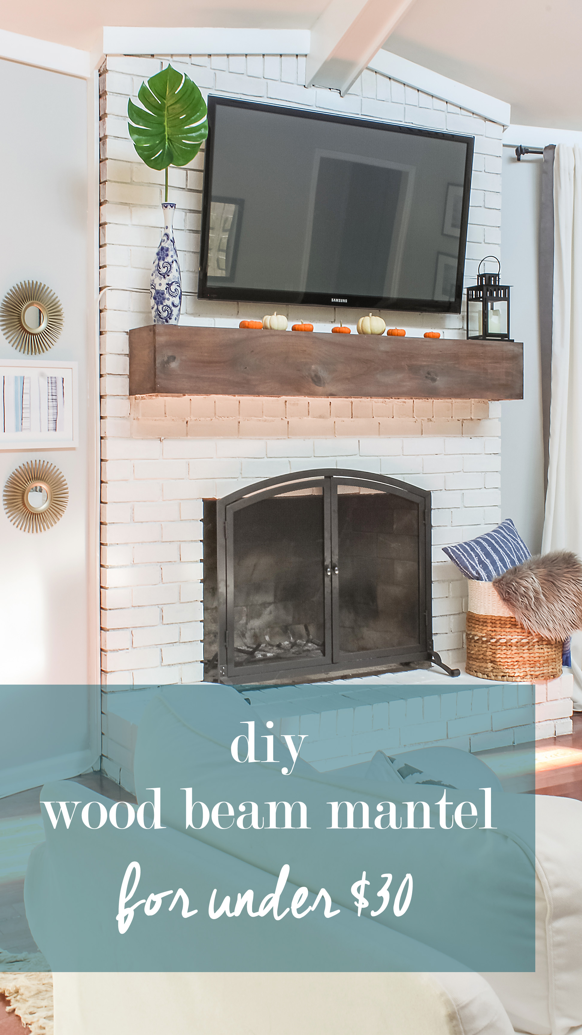 Wood Beam Mantel Diy