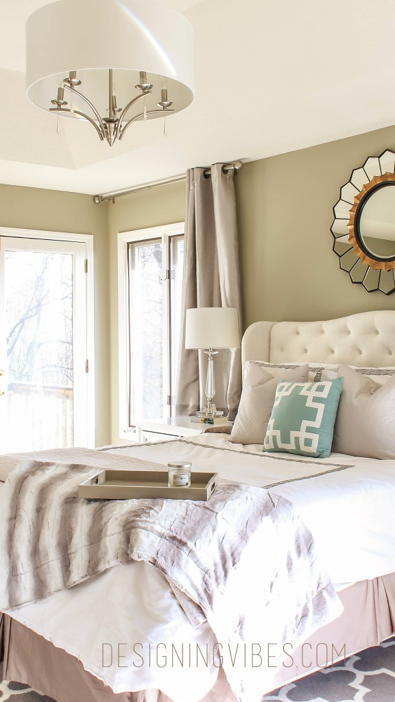 neutral elegant bedroom