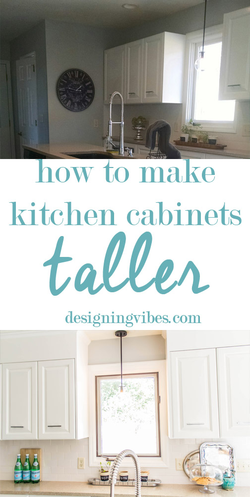 how to make kitchen cabinets taller