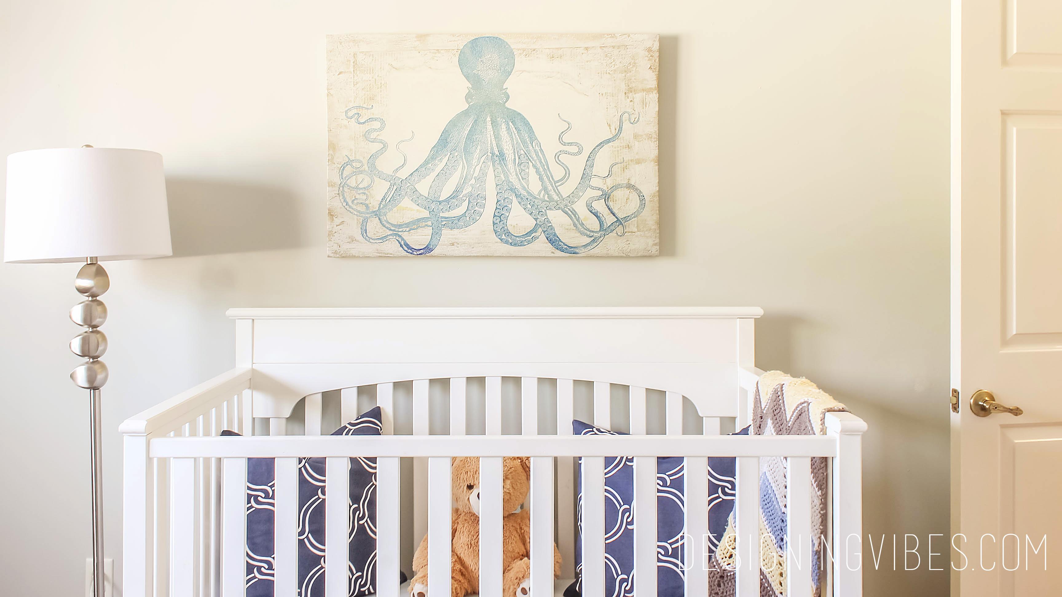 Toddler Boy Coastal Nursery Blue And Grey Nursery