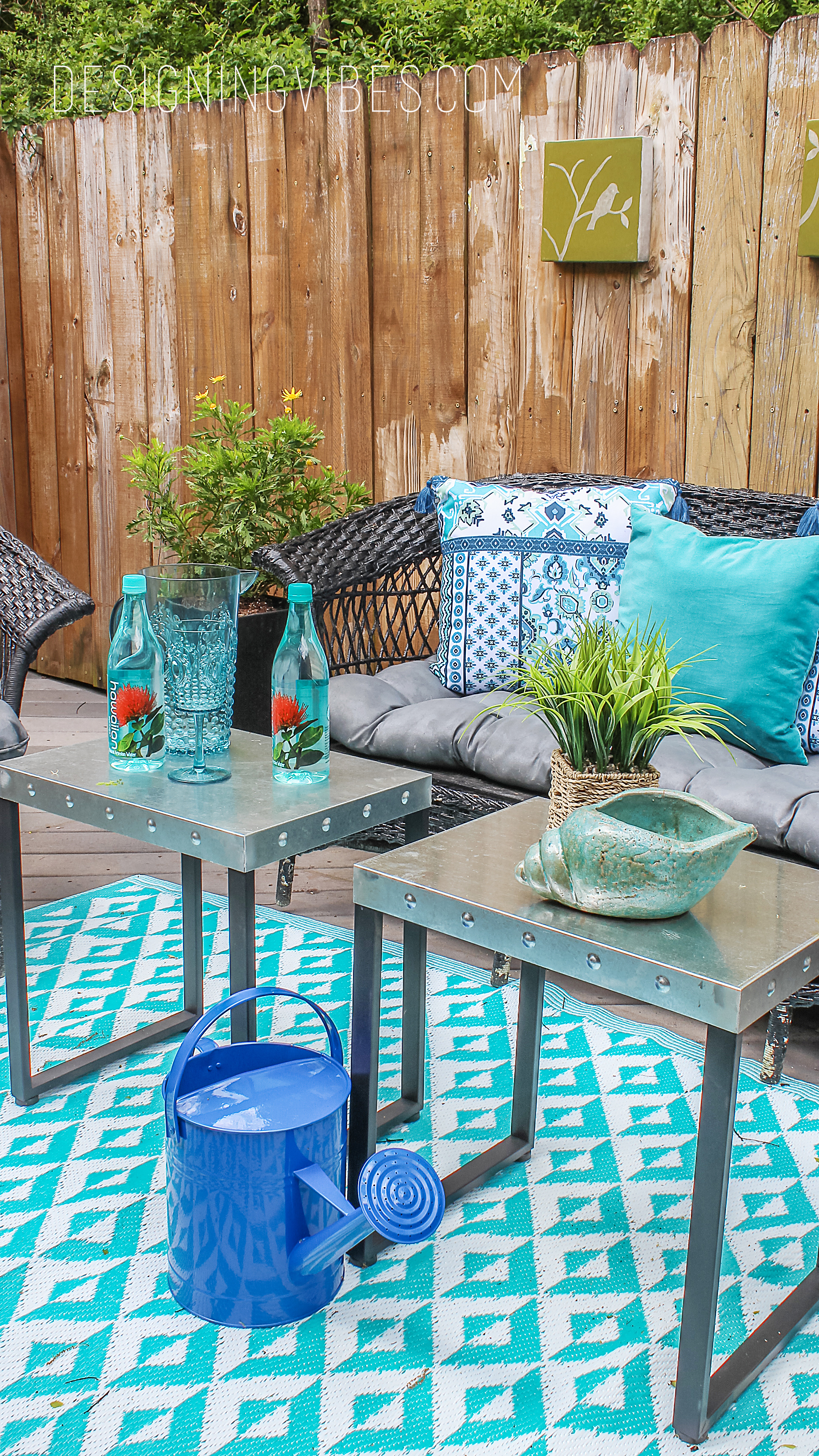 Spray Paint Fixes Everything DIY Patio Furniture Makeover Designing Vibes