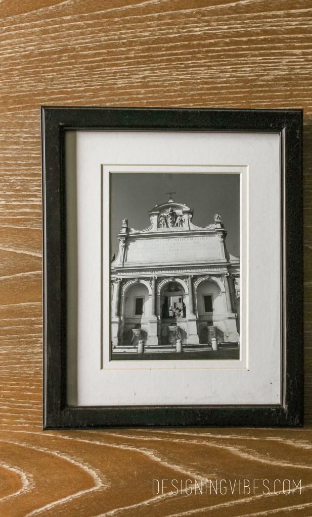 diy black and white framed art