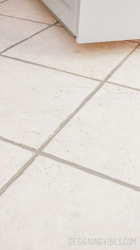 how to paint grout gray