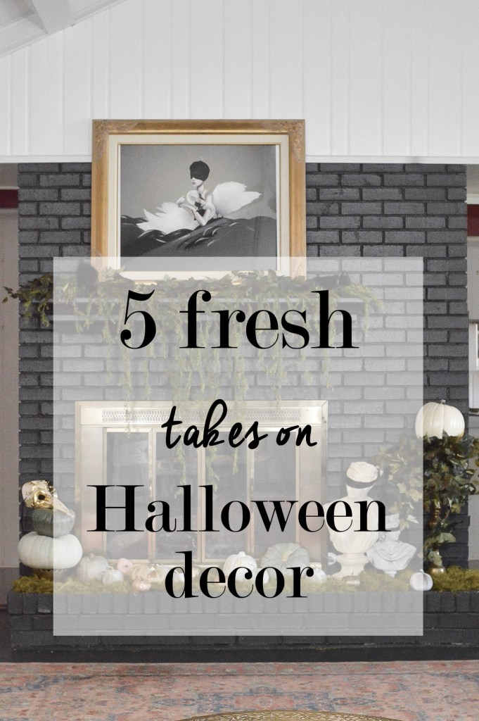 modern fall and halloween decor