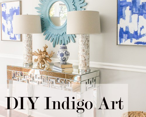 easy indigo art diy
