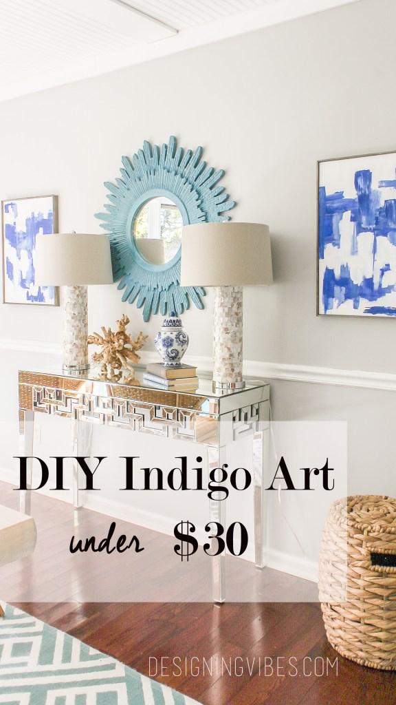 easy indigo art diy