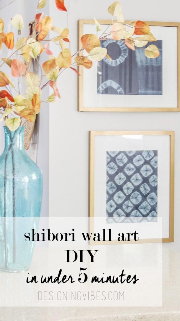 diy shibori wall art