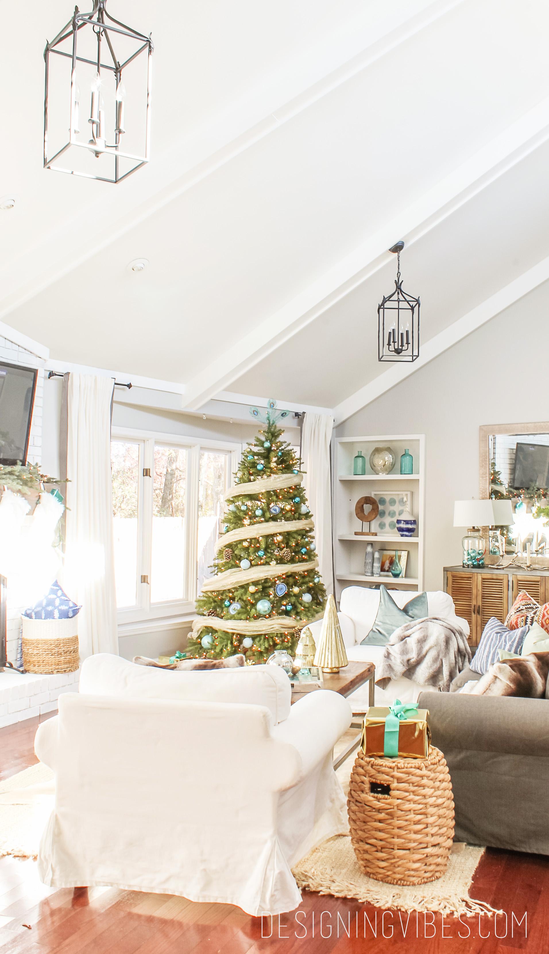 boho modern christmas decor - Modern Home Christmas Decor