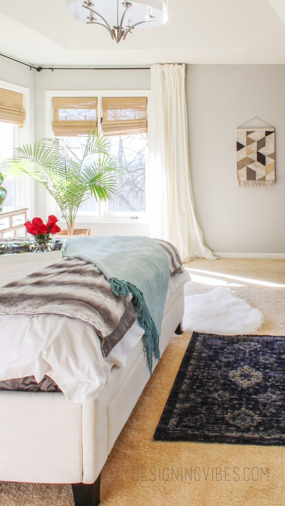 boho chic bedroom reveal
