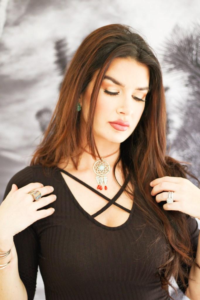 easy boho choker necklace diy
