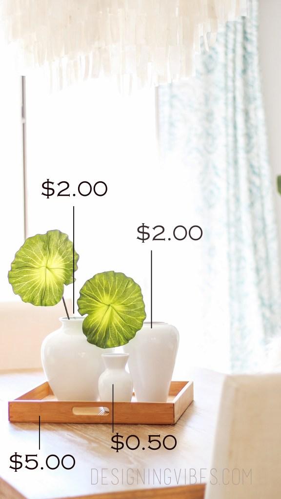 cheap diy table centerpiece for $10