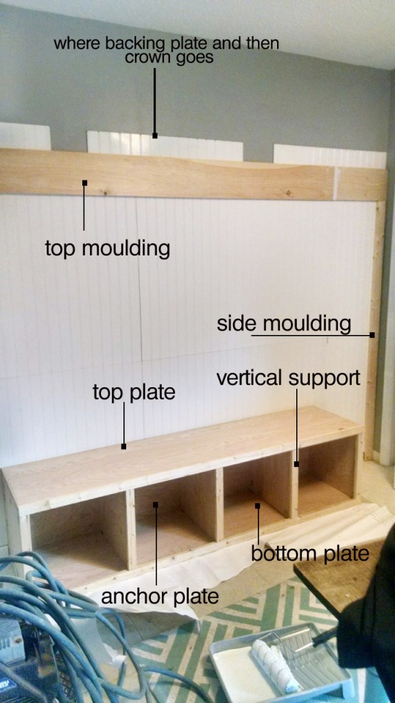 diy mudroom bench and beadboard built in