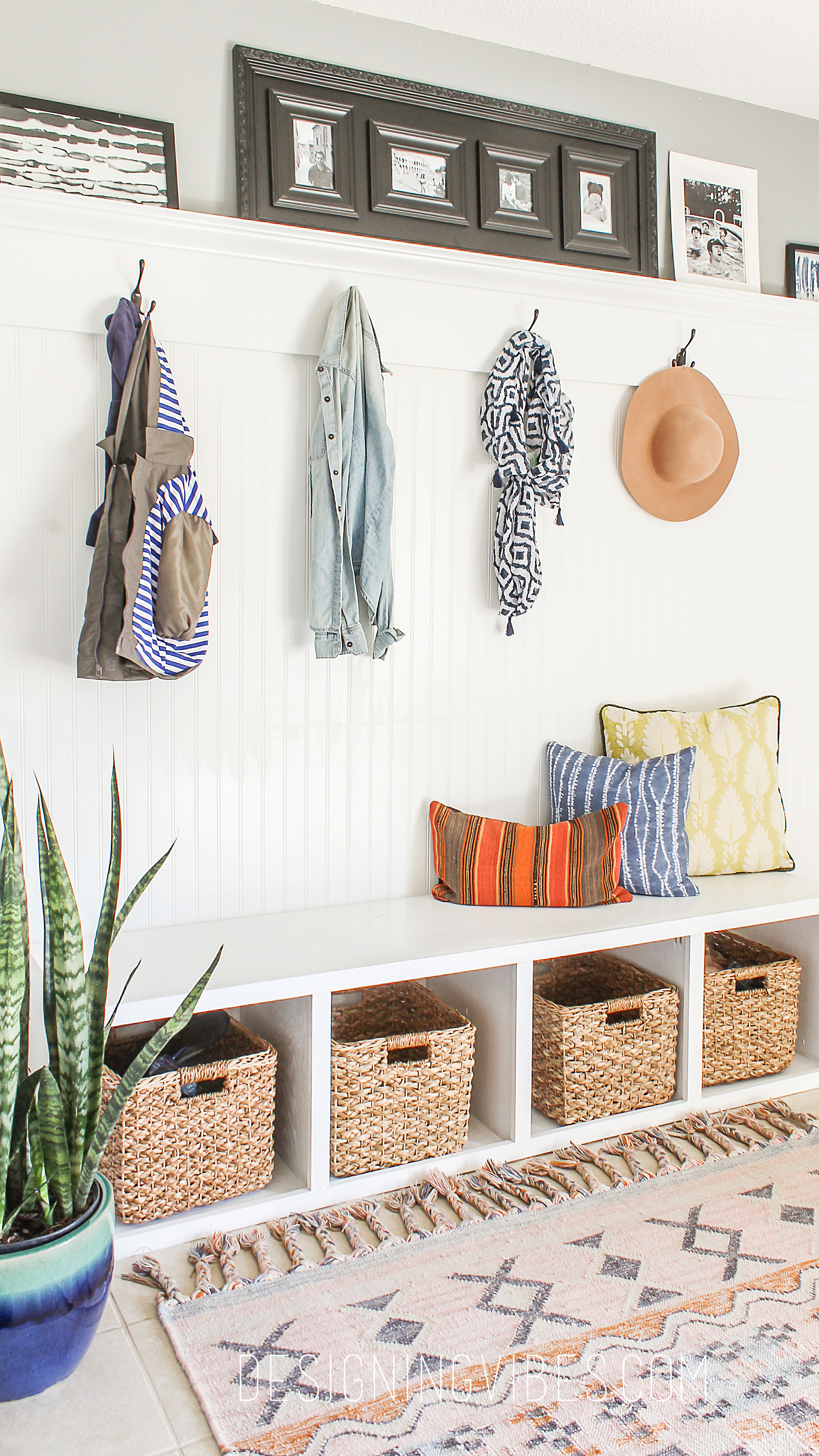 7 Basement Ideas On A Budget Chic Convenience For The Home: DIY Custom Mudroom For Under $200