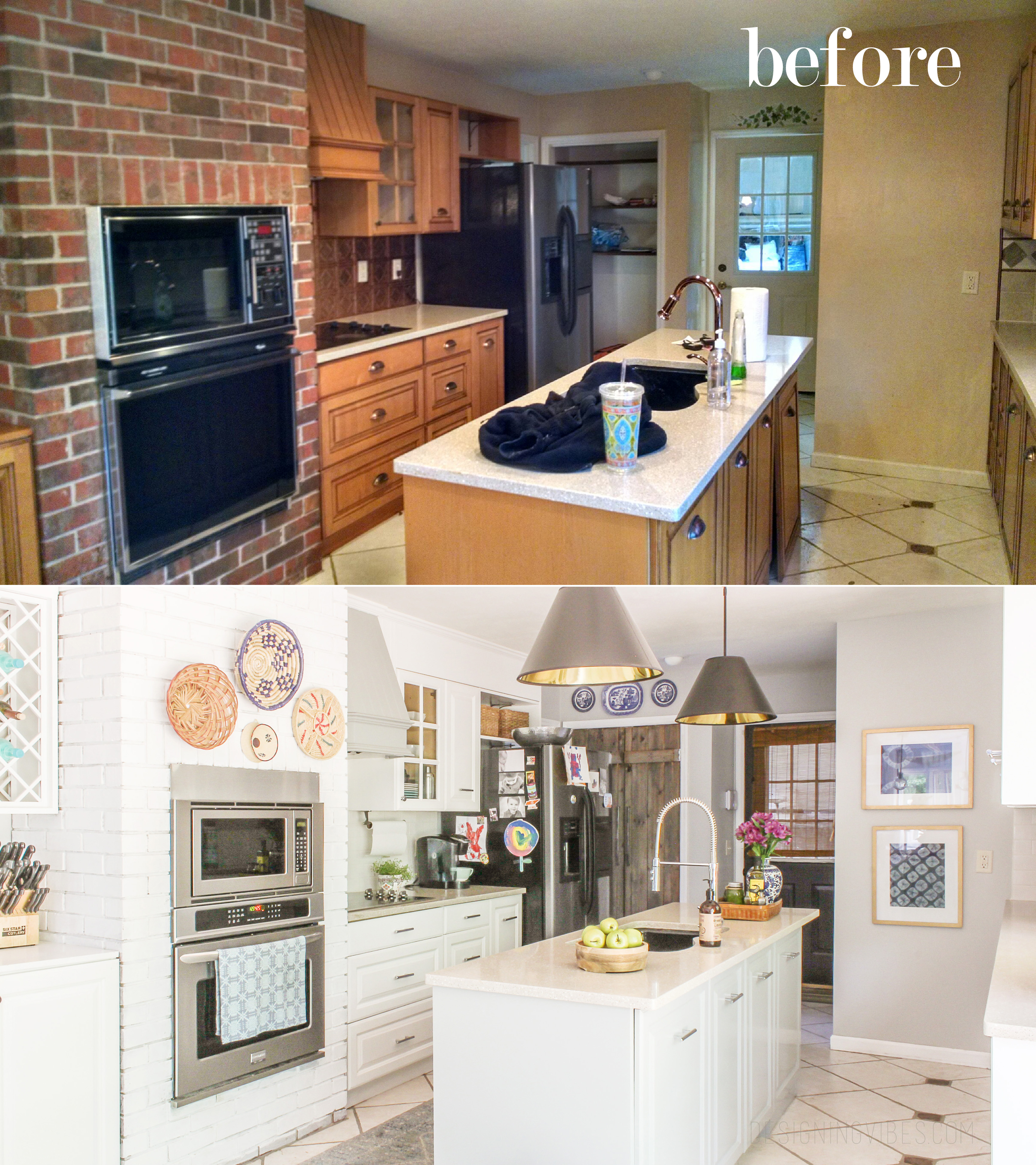 How I Renovated My 1980\'s Kitchen on a Crazy Low Budget- DIY ...
