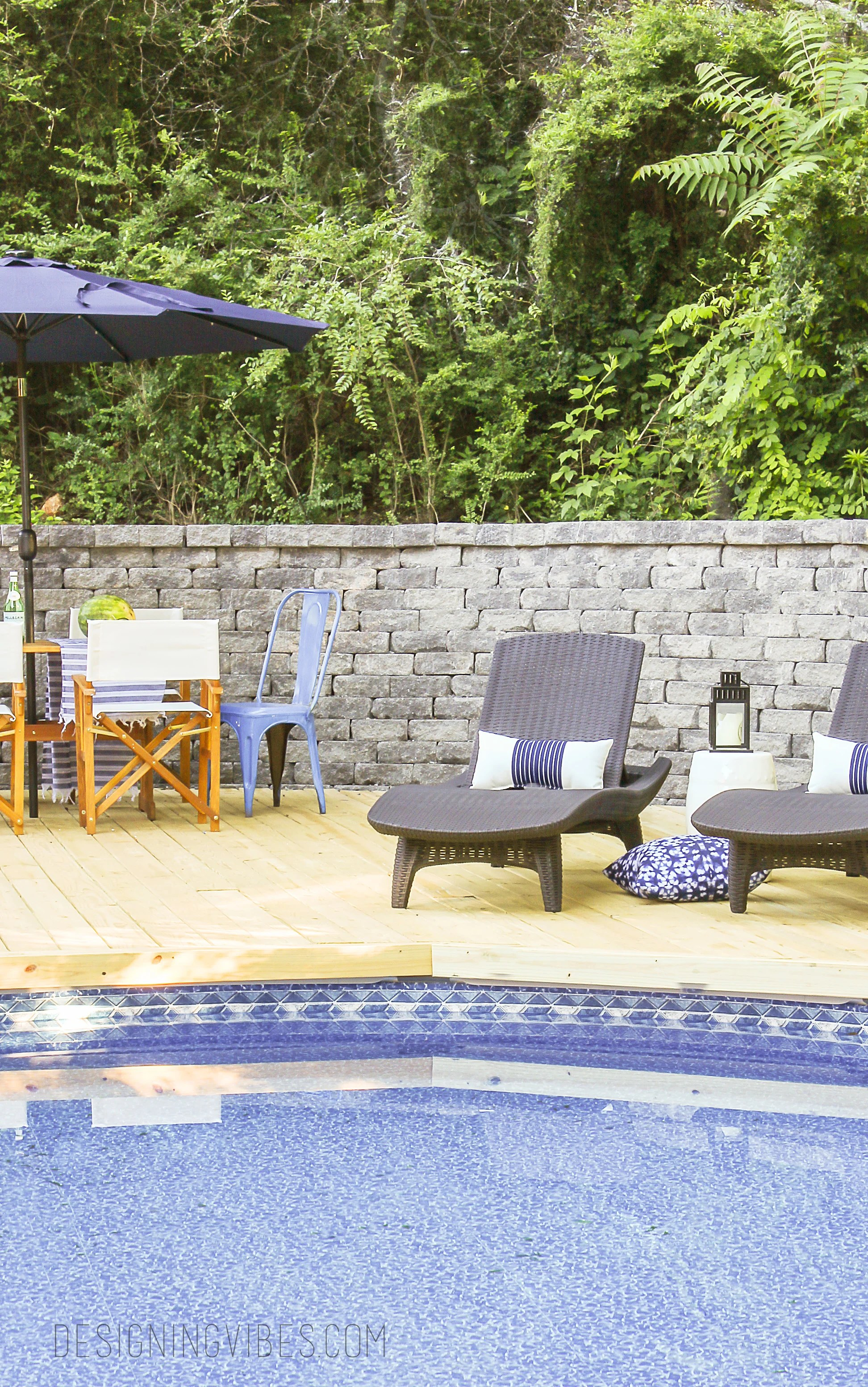 how to make an above ground pool look