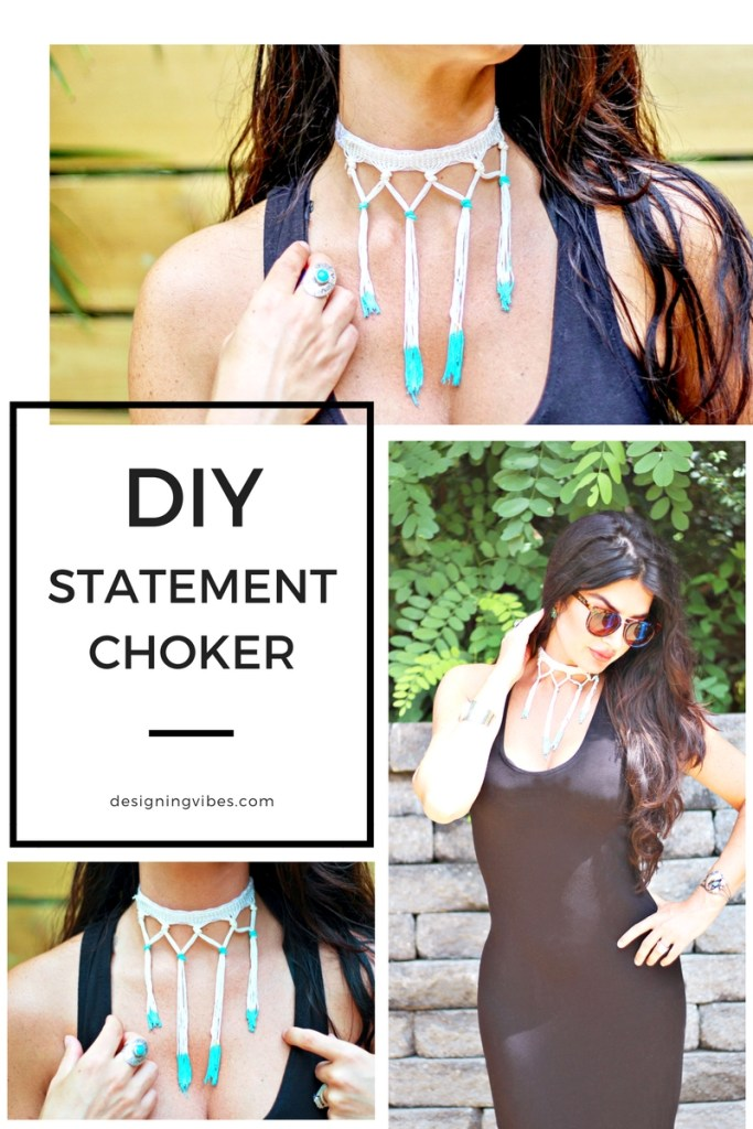 diy easy statment choker