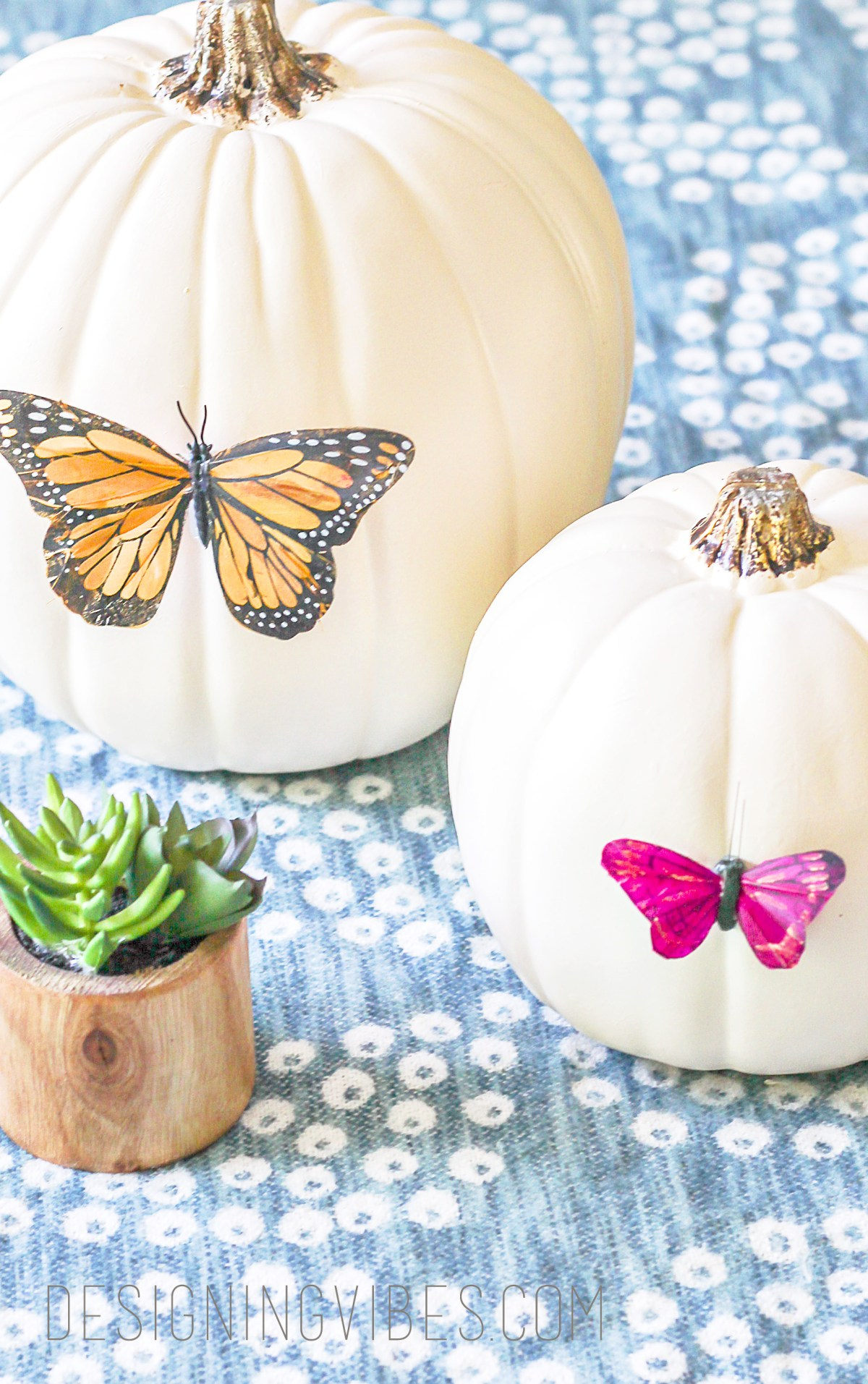 DIY easy boho pumpkin decor