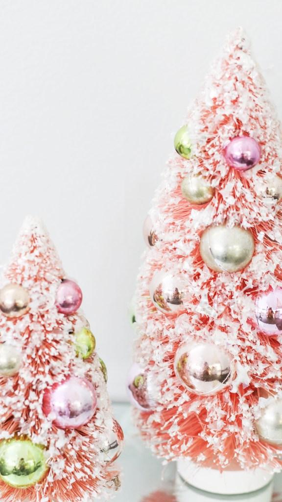 pink boho christmas decor 13