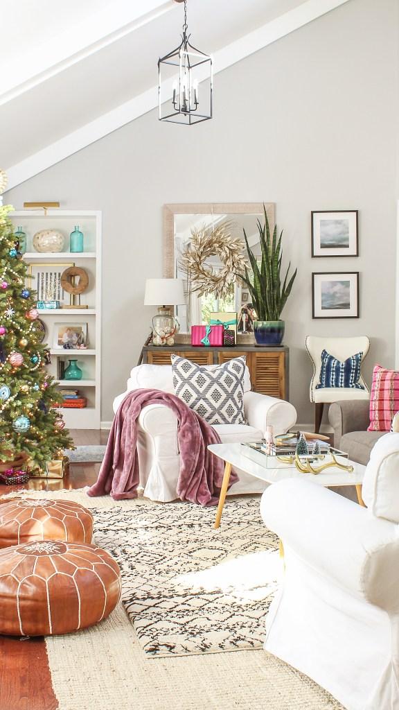 boho modern christmas home decor
