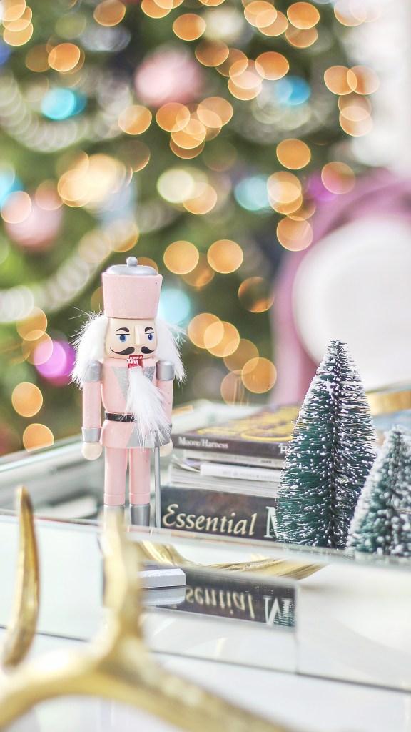 pink vintage christmas decor