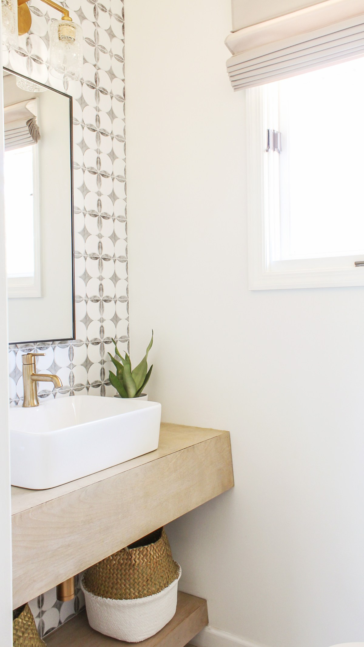 DIY Budget-Friendly Powder Room Redo - Boho Chic Bathroom