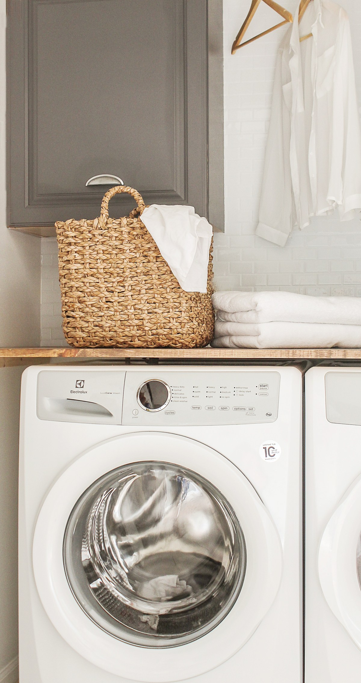 Diy Laundry Room Closet Makeover On The Cheap Modern Farmhouse