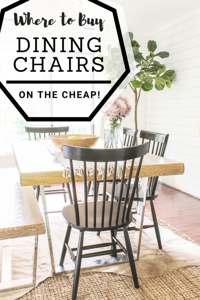 modern dining room chairs cheap | Modern Farmhouse Dining Chairs Under $100 - Decor on the Cheap