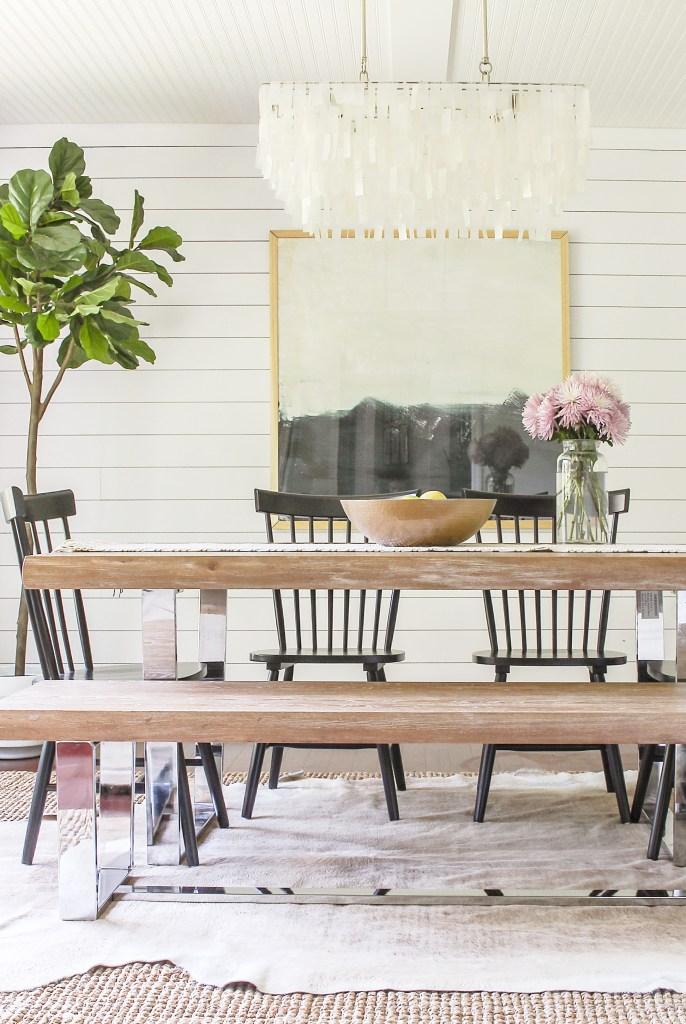 Modern Farmhouse Dining Room Reveal- Interior Design Ideas ... on Dining Room Curtains Farmhouse  id=70142