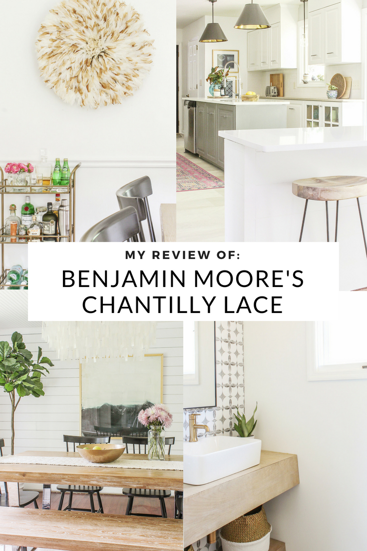 My Honest Review Of Chantilly Lace By Benjamin Moore. White Paint Colors  For Modern Farmhouse