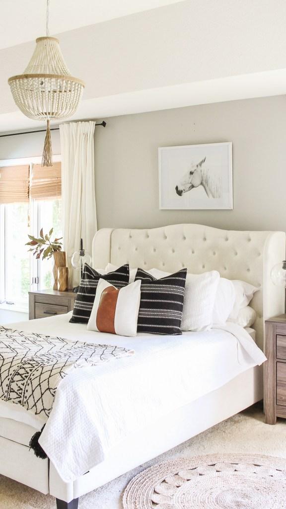 affordable modern farmhouse bedroom decor