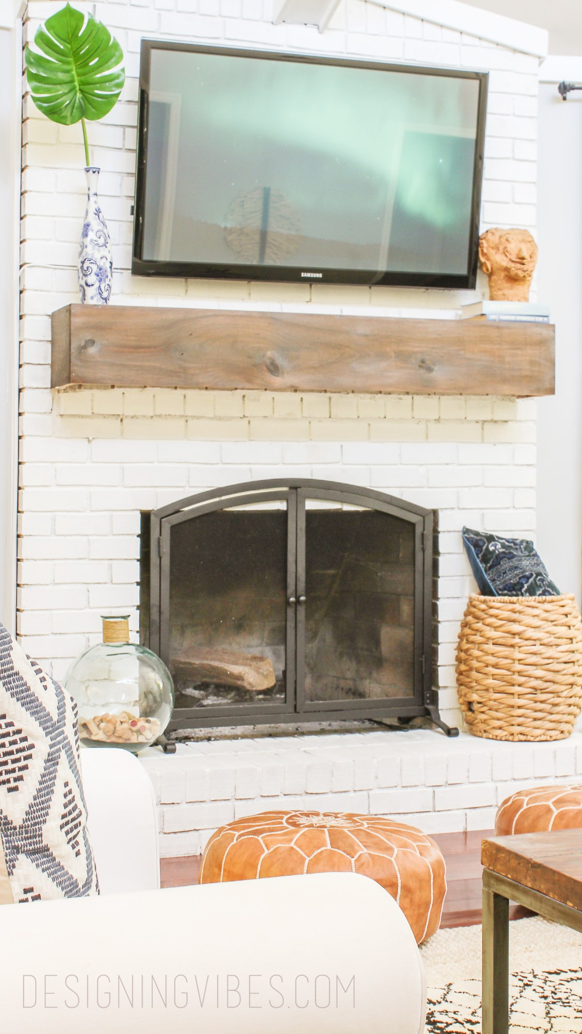 My Painted Brick Fireplace 3 Years Later A Cautionary Tale