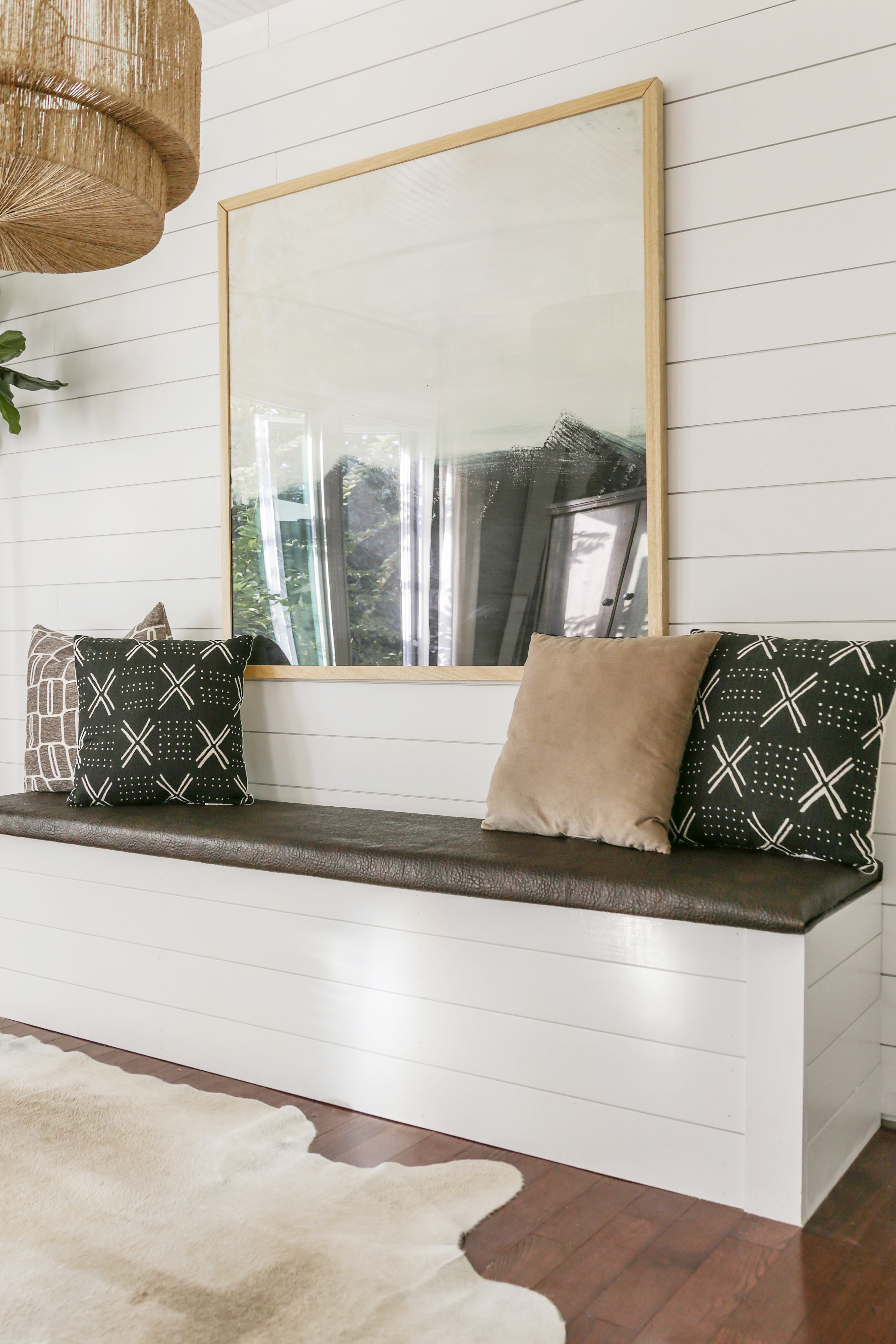 DIY Built-In Dining Bench with Storage - Breakfast Nook Banquette