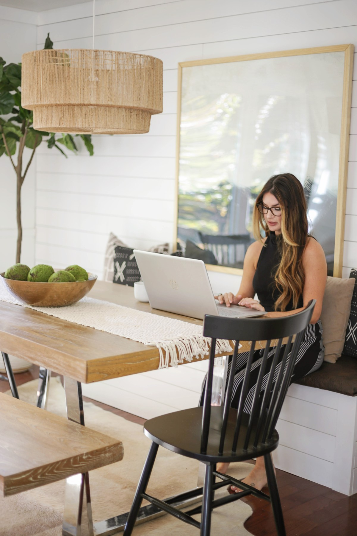 Reveal Dining Room Office Combo With Diy Built In Storage Banquette