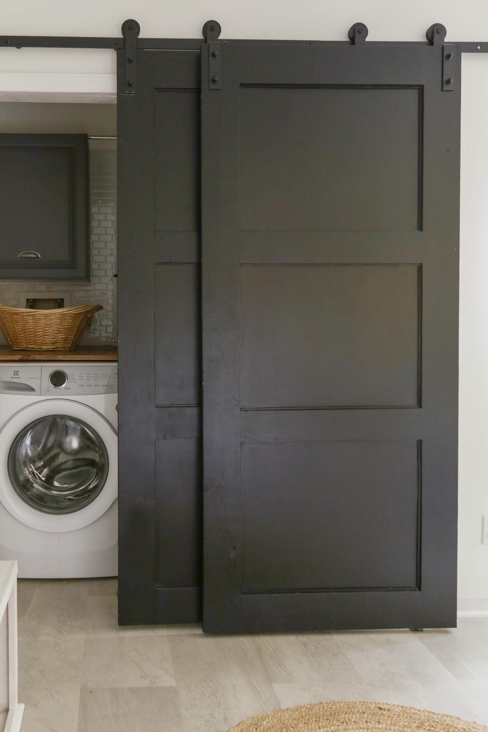 Diy Sliding Barn Door To Replace Bi Fold Closet Doors Cheap And Easy