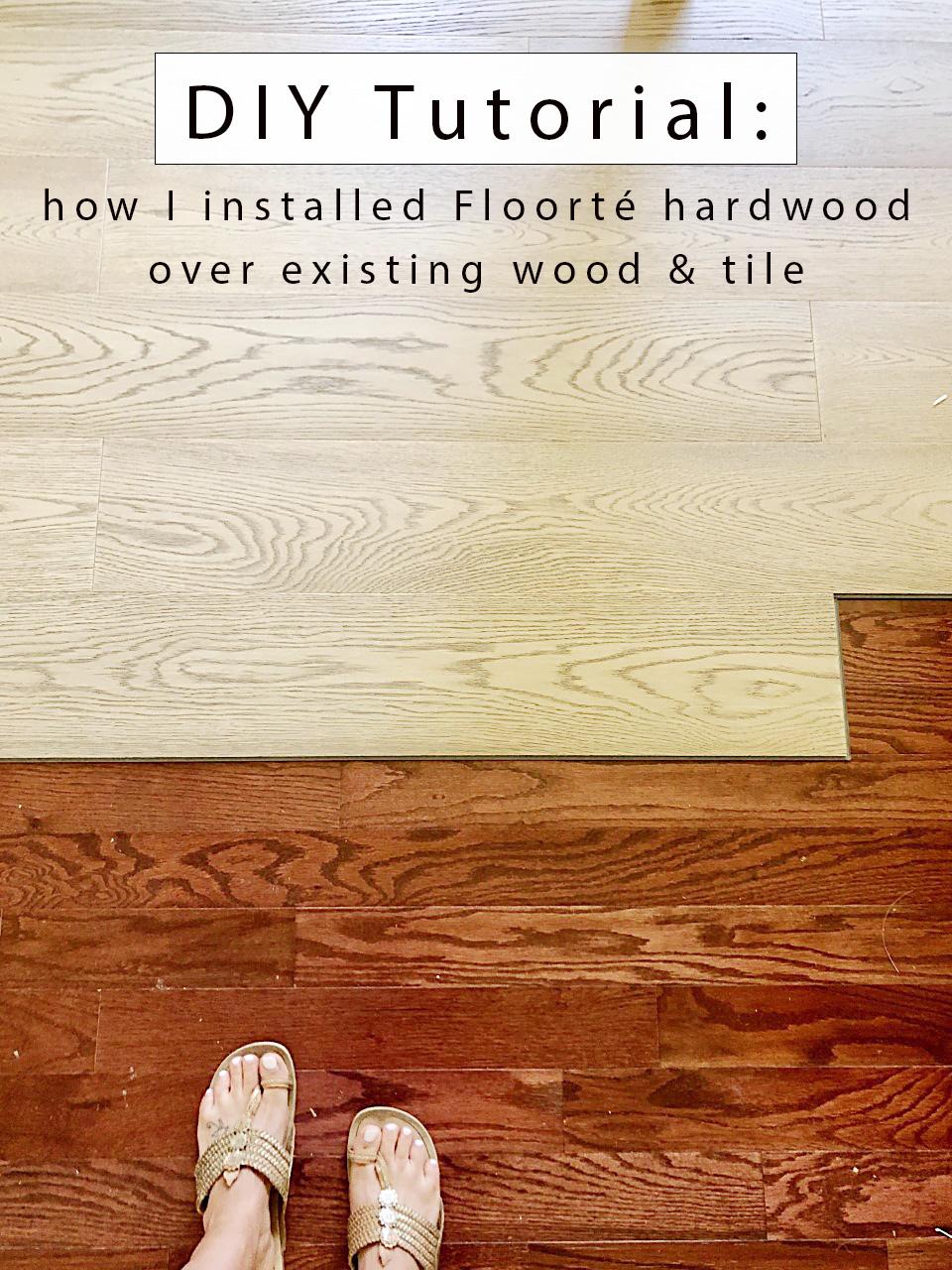 to install floating hardwood directly