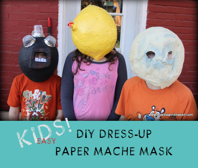 Kids! Paper Mache Balloon Masks