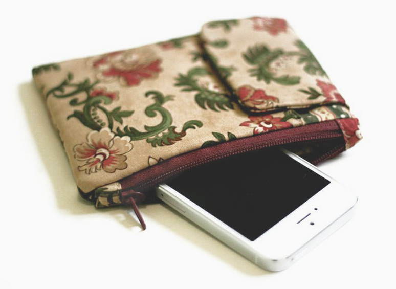 phone pouch, wallet, diy