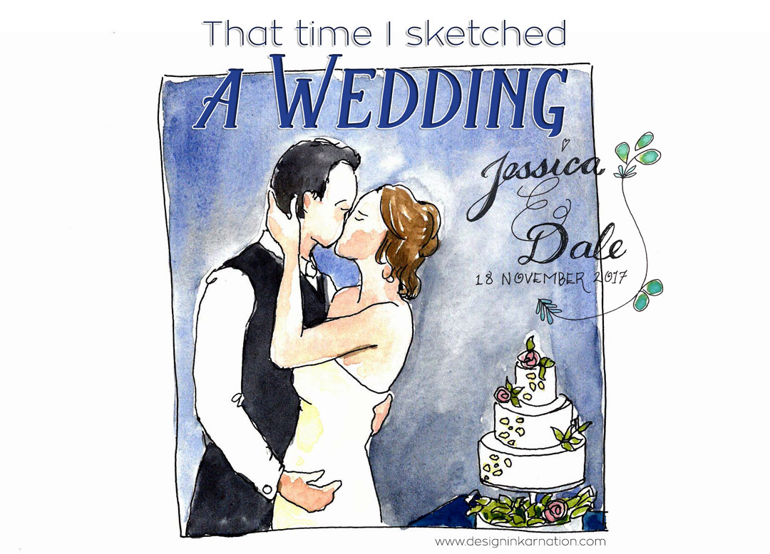 That Time I Live Sketched A Wedding