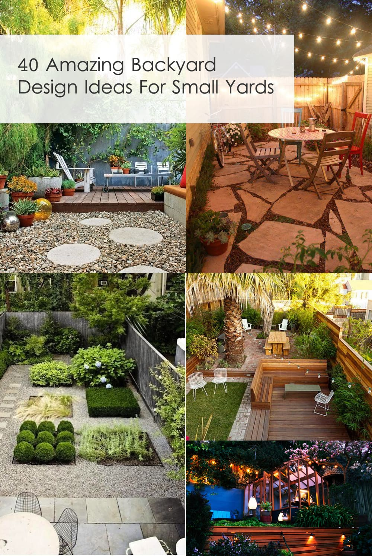 40 Amazing Design Ideas For Small Backyards on Small Backyard Decor id=73736