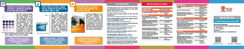WHO@AIDS 2016 brochure at-a-glance information
