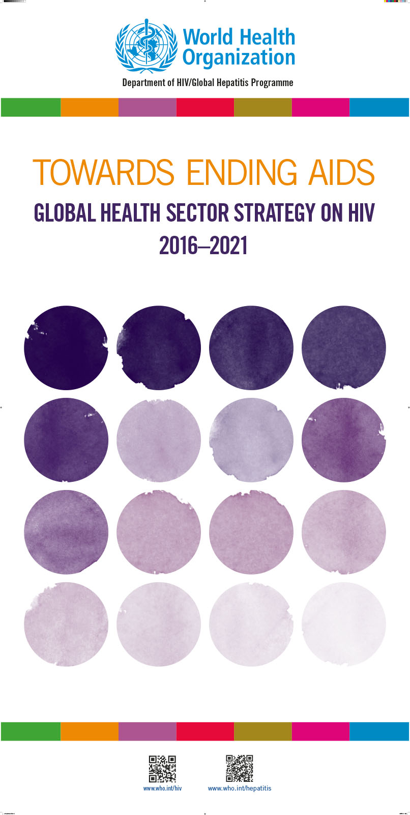 WHO@AIDS 2016 pull-up banner for the Global Health Sector Strategy on HIV