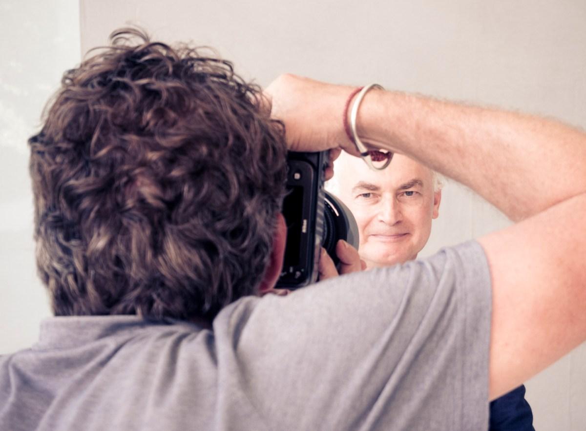 A photo shoot with Chris de Bode in Geneva