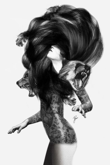 B&W Prints - Bear 3 by Jenny Liz Rome