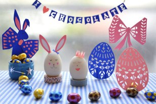 DIY Easter projects cuttout decor